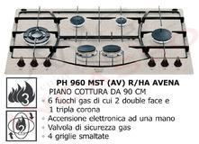 Piano Cottura Cucina Tradizione 5 Fuochi Gas cm.75 Avena - AMG ...