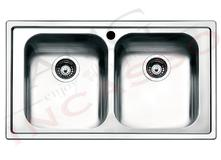 lavello acciaio cucina firenze cm.86x50 2 vasche - amg incasso ... - Lavello Cucina 2 Vasche