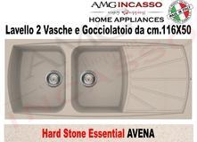 Lavello Cucina Essential 2 Vasche cm.116X50 Fragranite Nero | AMG ...