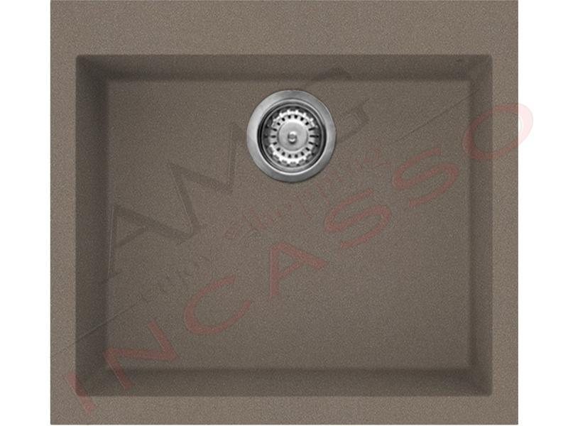 Lavello Cucina 1 Vasca cm.57X50 Quadra Granitek® G43 Tortora - AMG ...