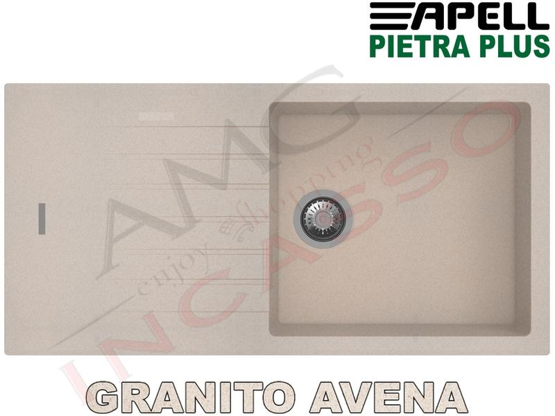 Lavello Cucina New Pietra Plus 1 Vasca cm.100X50 Fragranite Avena