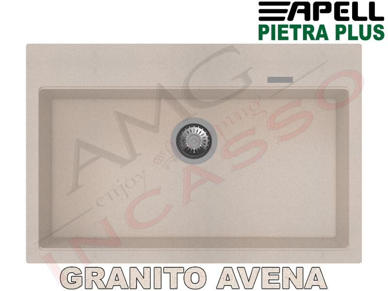 Lavello Cucina New Pietra Plus 1 Vasca cm.78X51 Fragranite Avena