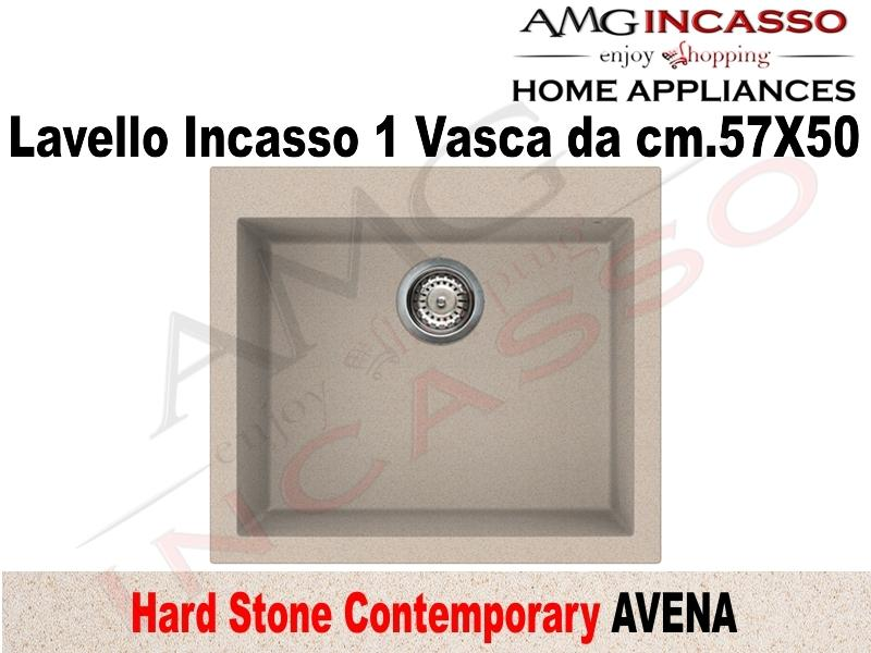 Lavello Cucina Contemporary 1 Vasca / Vascone cm.57X50 Fragranite Avena
