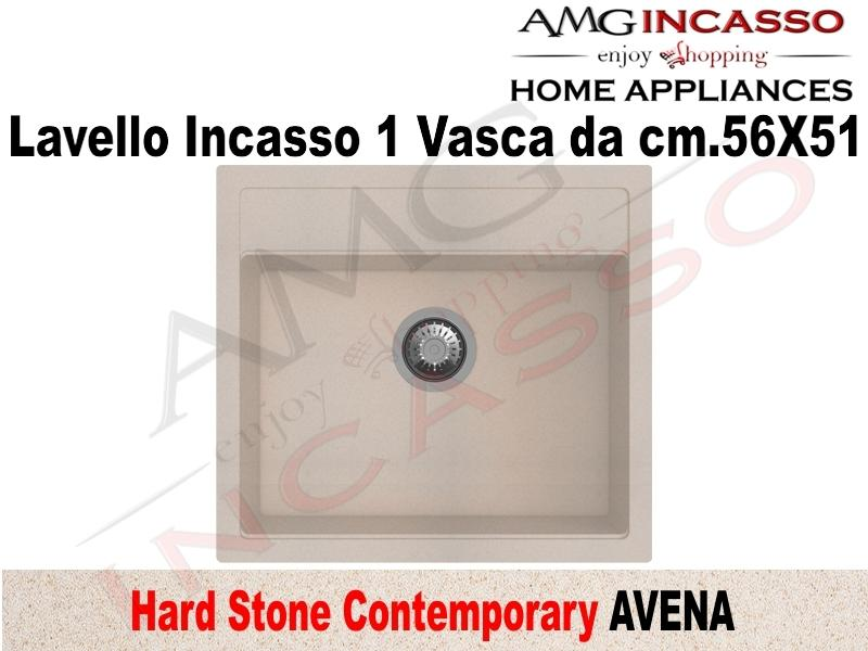 Lavello Cucina Contemporary 1 Vasca / Vascone cm.56X51 Fragranite Avena