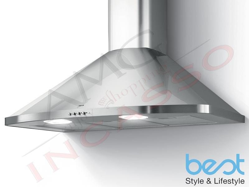 Cappa Cucina Parete AMIATA XS 90 07039027A da 435 m³ h Inox  60b45974c980