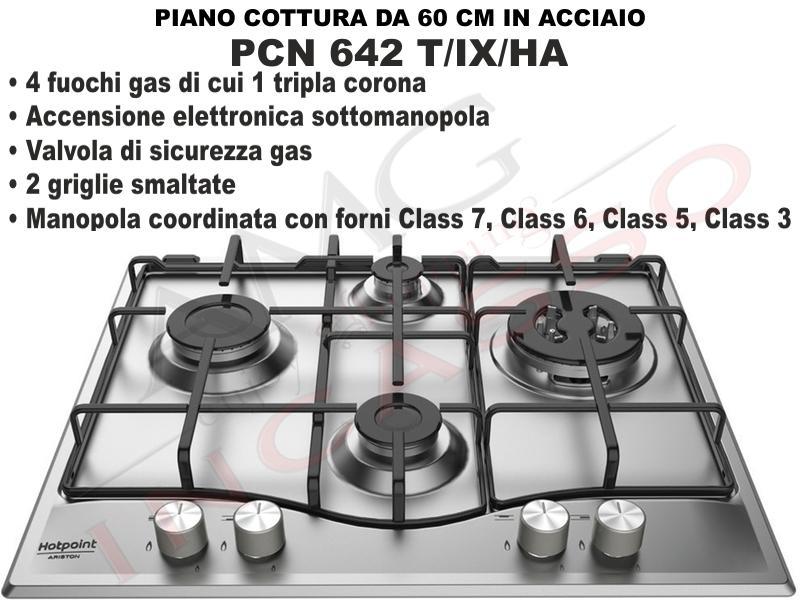 Piano Cottura Cucina 4 Fuochi Gas cm.60 Acciaio Inox | AMG incasso ...