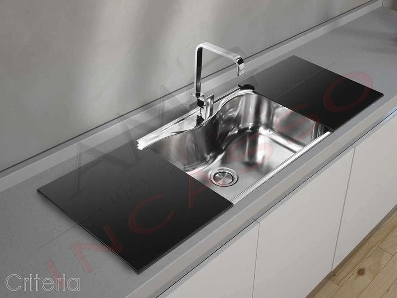 Lavello acciaio cucina criteria 1 vasca vascone for Cucina 1 80