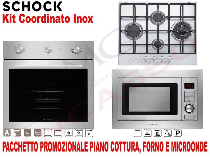 Pacchetto Acciaio: Piano Cottura cm.60 • Forno Ventilato • Microonde ...