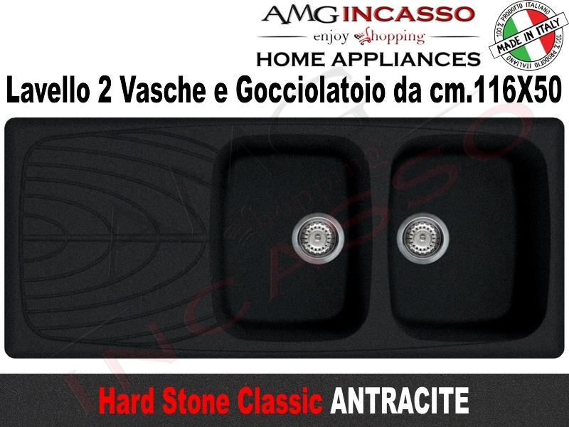 Lavello Cucina Classic 2 Vasche cm.116X50 Fragranite Antracite