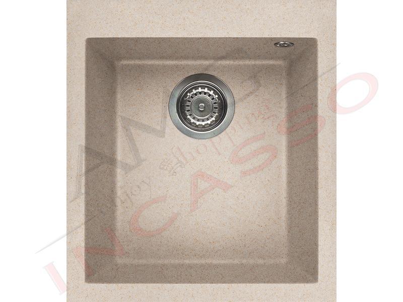 Lavello Cucina 1 Vasca cm.41X50 Quadra Granitek® G51 Avena