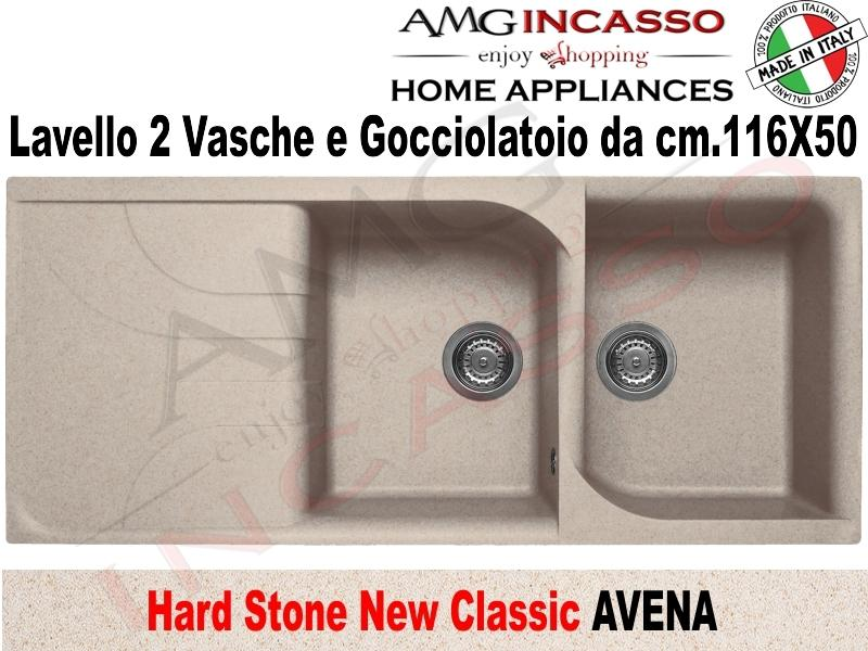 Lavello Cucina Classic New 2 Vasche cm.116X50 Fragranite Avena