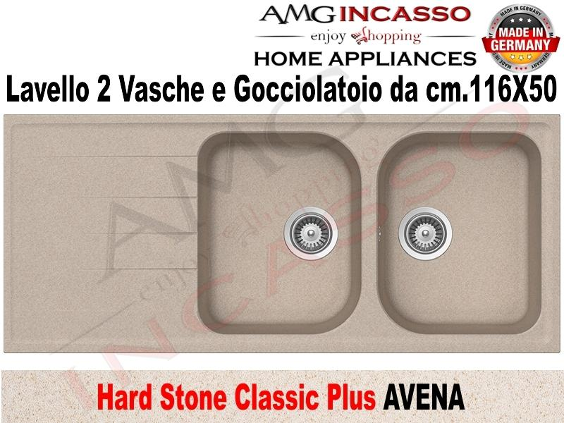Lavello Cucina Classic Plus 2 Vasche cm.116X50 Fragranite Avena