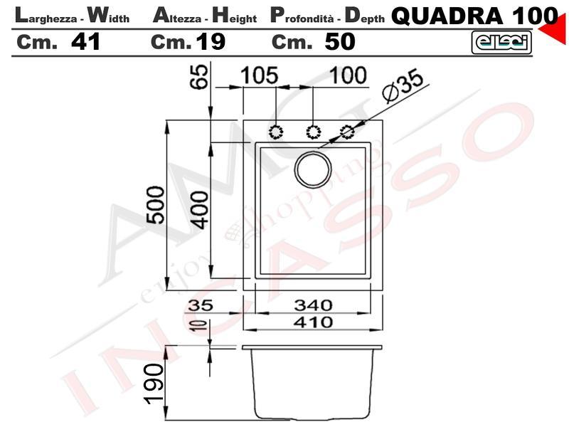 Cappa Cucina Moderna 80 TD314BC Quadra Inox-Vetro Nero | AMG incasso ...