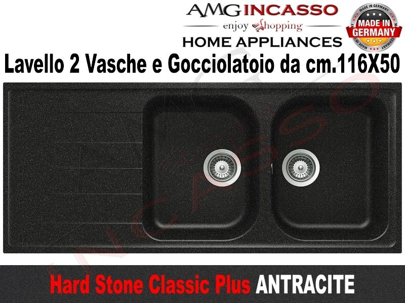 Lavello Cucina Classic Plus 2 Vasche cm.116X50 Fragranite Antracite