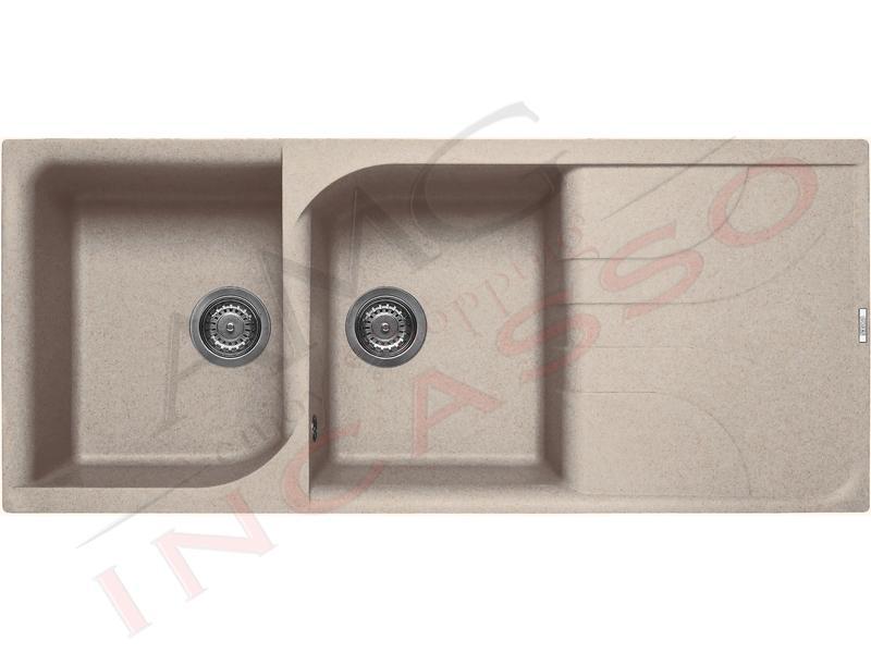Lavello Cucina 2 Vasche cm.116X50 Ego Granitek® G51 Avena | AMG ...