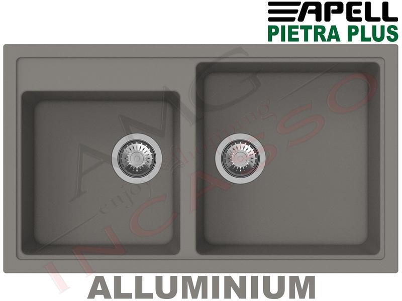 Lavello Cucina New Pietra Plus 2 Vasche cm.86X50 Fragranite ...