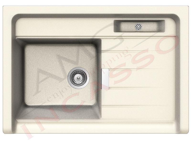 Lavello Cucina Largo Appoggio cm.90X62,8 1 Vasca Magnolia | AMG ...