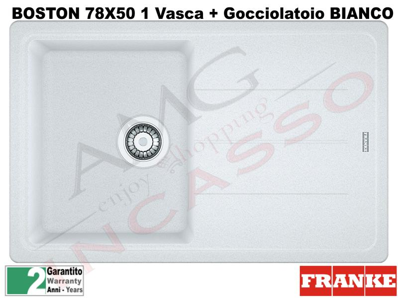 Lavello Franke BFG611-78 9899876 Boston 78 X 50 1 V + Gocc. Bianco