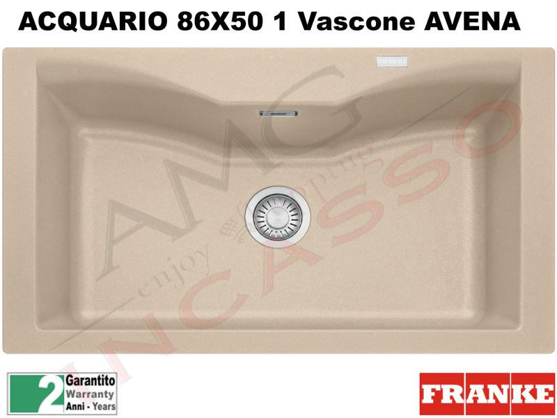 Lavello Fragranite Franke CG610-N Acquario 86X50 1V Avena