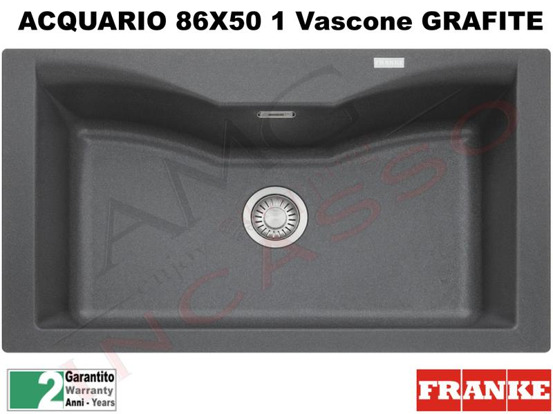 Lavello Fragranite Franke CG610-N Acquario 86X50 1V Grafite