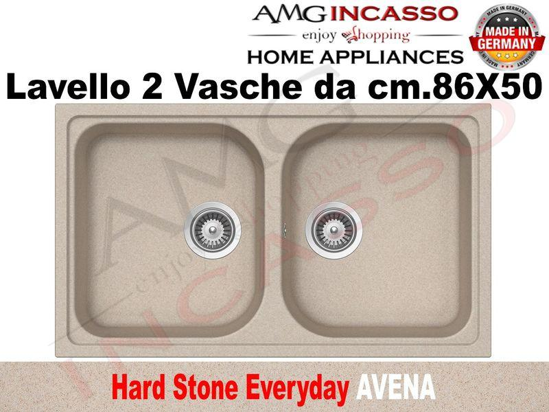Lavello Cucina Everyday 2 Vasche cm.86X50 Fragranite Avena