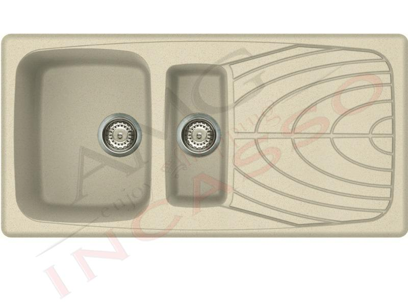 lavello elleci master 475 lgm47561 1 vasca con gocciolatoio granitek g61 pietra antica. Black Bedroom Furniture Sets. Home Design Ideas