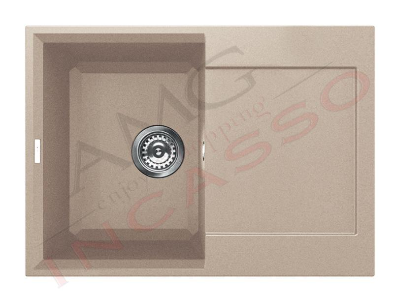 Lavello Cucina 1 Vasca cm.68X58 Easy Granitek® G51 Avena | AMG ...