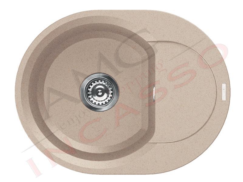Lavello cucina 1 vasca easy granitek g51 avena amg incasso elettrodomestici da incasso - Lavello cucina rotondo ...