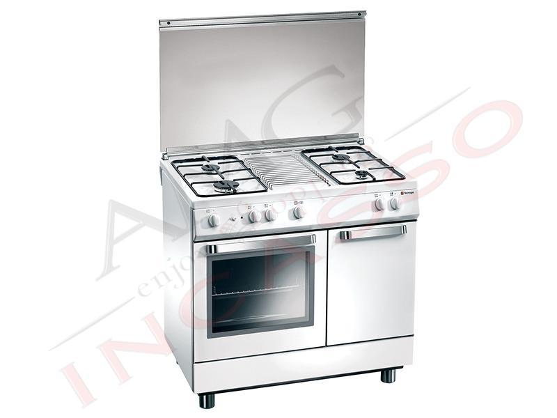 Cucina accosto tecnogas linea ark d832ws 80x50 porta bombola 4 fuochi gas forno a gas 2 - Cucine a gas libera installazione ...