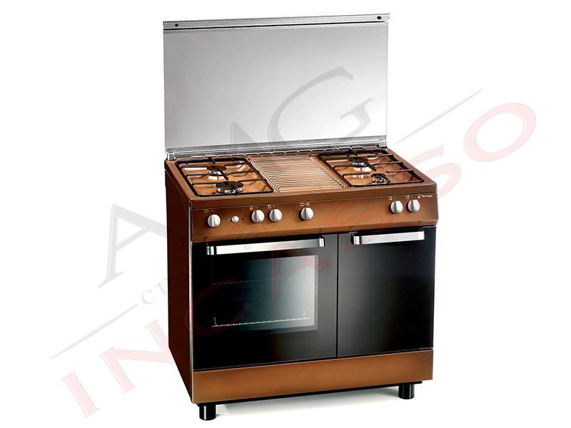 cucina accosto arkè d982cs 90x60 libera installazione marrone ... - Cucina Gas Bombola