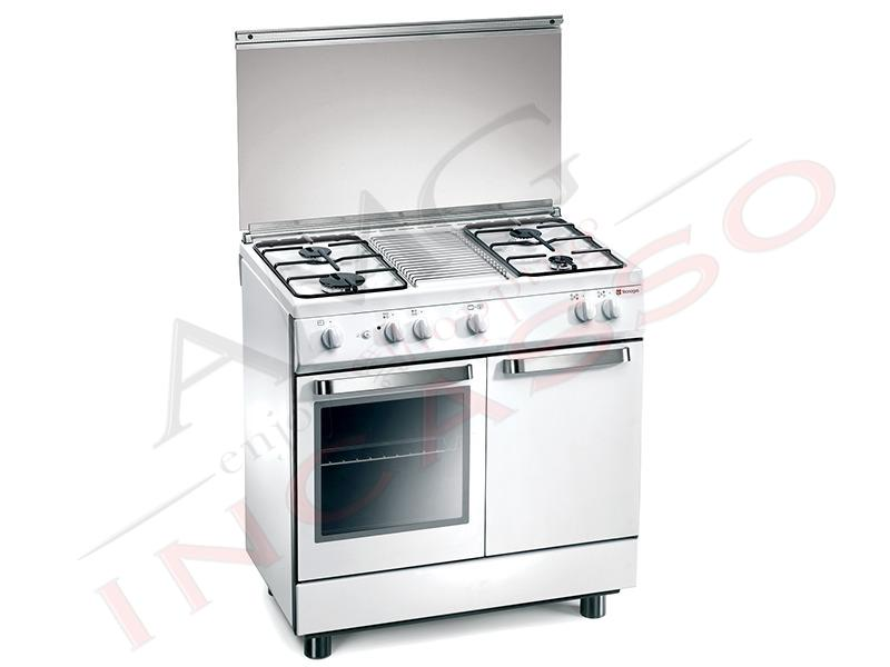 Cucina accosto Tecnogas Linea Arkè D982WS 90x60 porta bombola 4 fuochi gas Forno a gas 2 ...