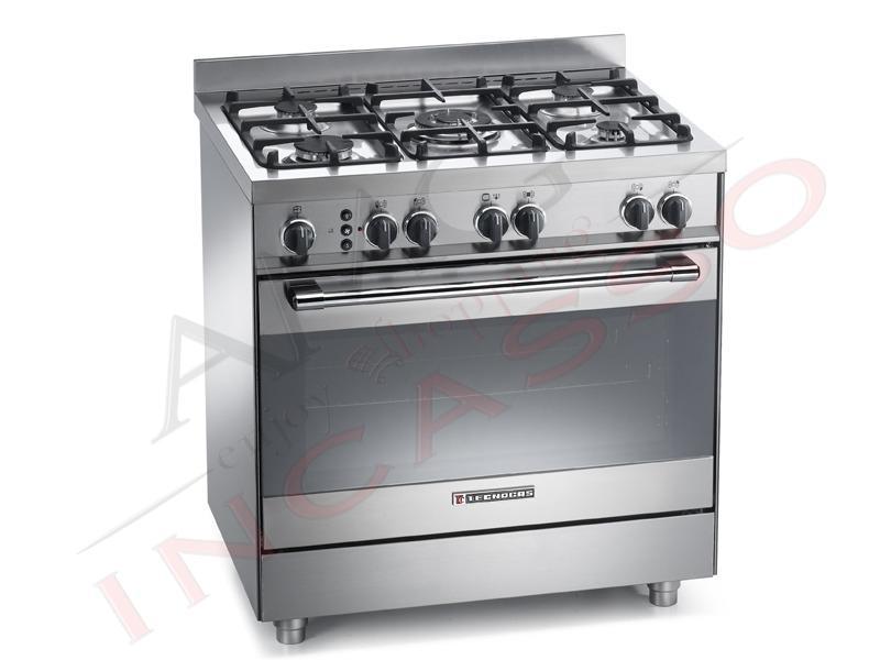 Cucina accosto tecnogas linea pro pt899xs 80x60 maxiforno for Cucina 80x60 forno elettrico