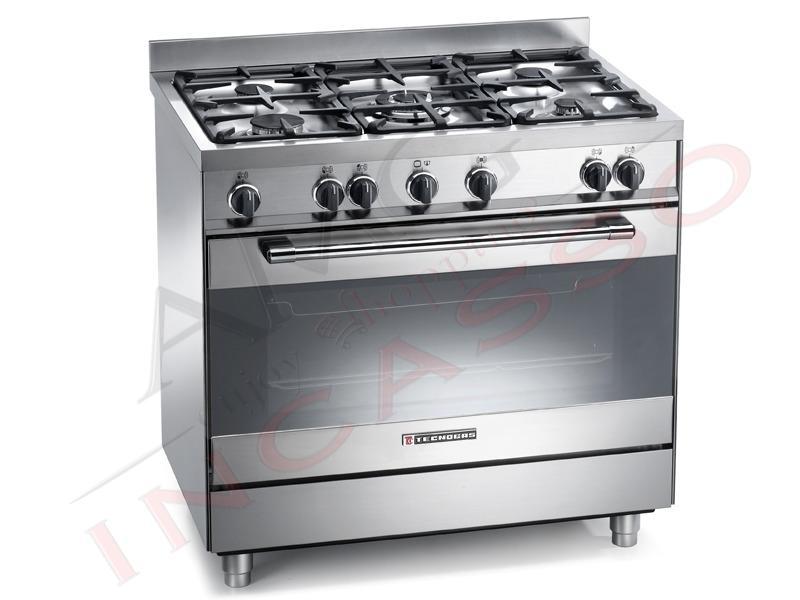 Cucina Accosto Free Standing Tecnogas Modello PRO 90X60 PT999XS Fuochi Gas 5 di cui Tripla ...
