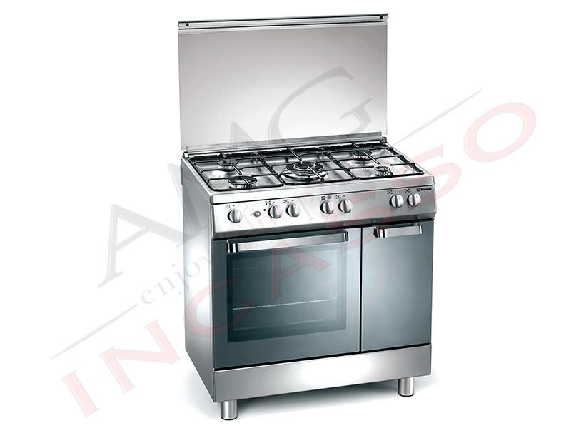 Cucina Accosto Arkè D827XS 80x50 Libera Installazione Inox - AMG ...