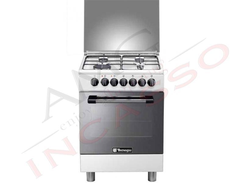 Cucina accosto tecnogas linea pro p654gvw 60x50 4 fuochi - Forno a gas ventilato da incasso ...