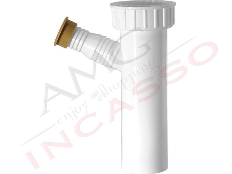 Sifone accessorio l b plast 1030 1064 singolo attacco - Sifone lavello cucina ...