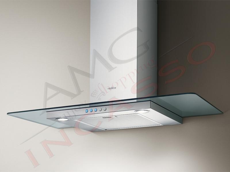 cappa a parete flat glass ix/a/60 incasso cucina moderna cod ... - Cappe Cucina Moderne
