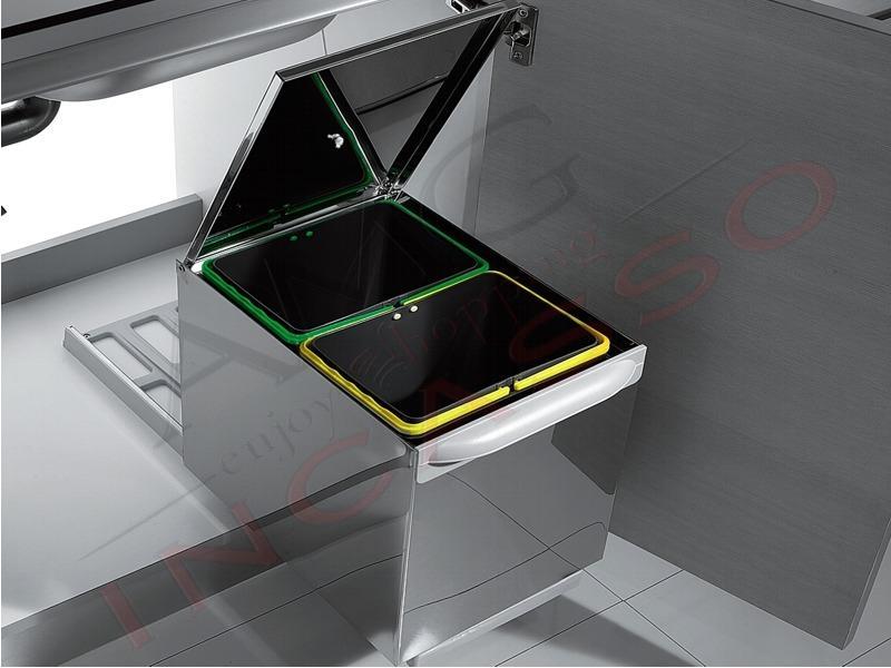 Pattumiera Inoxa 97XP/2 Mercury 2 in acciaio coperchio plastica x ...