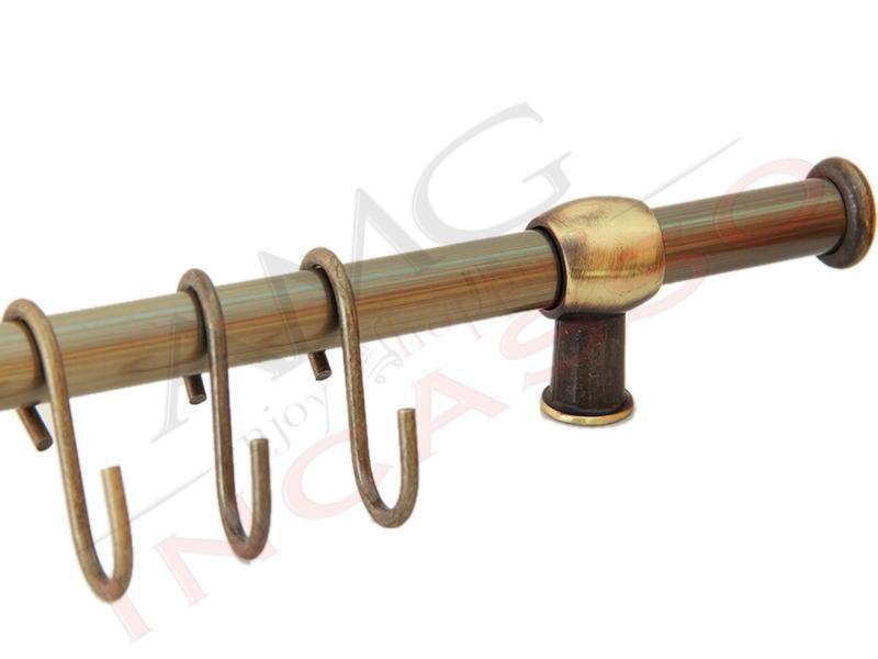 Kit barra sottopensile ottone antico inoxa 837 for Quotazione barra ottone