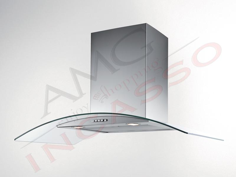 Cappa 90 Moderna Tecnowind Smart Plus Twin K7020093 Inox - vetro ...