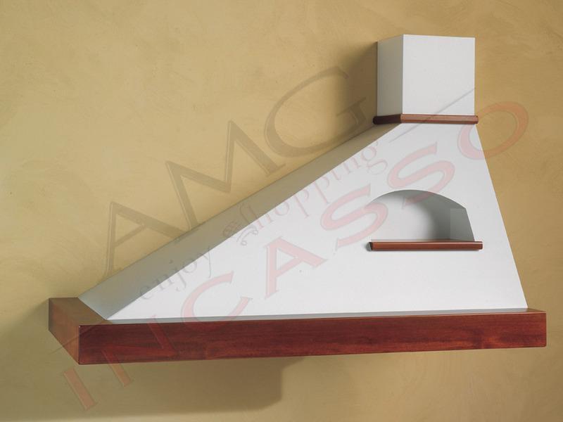 Cappa trapezio sinistra cornice legno grezzo for Motore cappa aspirante