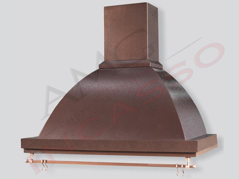 Cappa tecnodesign marta cornice e struttura verniciate in rame e kit sottopensile di serie - Cappa per cucina in muratura ...