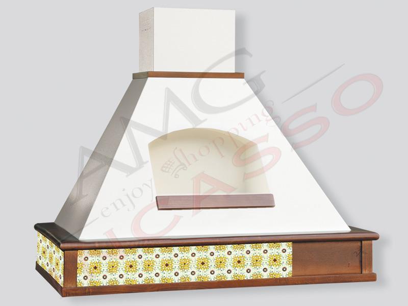 Cappa Tecnodesign Viareggio Cm.120 COMPRESA cornice legno Grezza ...