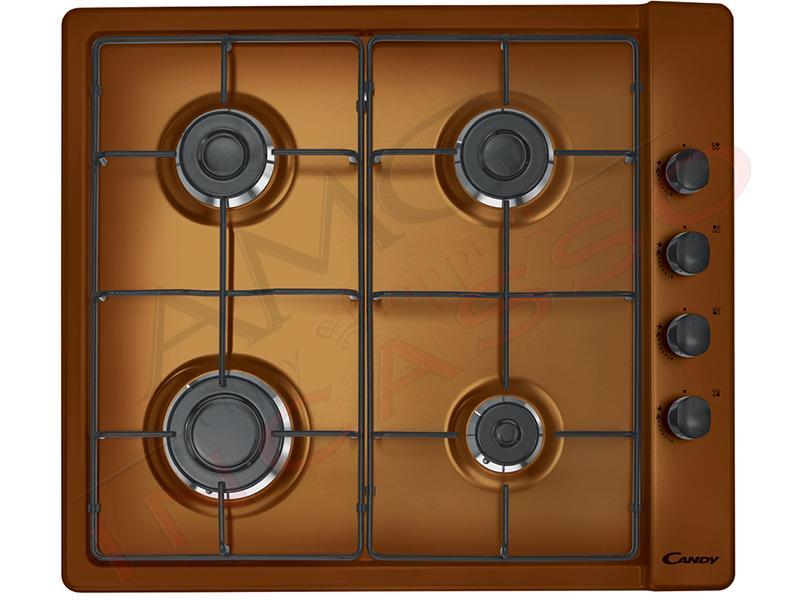 piano cottura candy cm.60 clg64sptf 4 fuochi, doppia griglia in ... - Cucina Quattro Fuochi