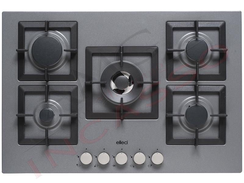 Piano Cottura Cucina Plano 5 Fuochi Gas cm.75 Griglie in Ghisa ...