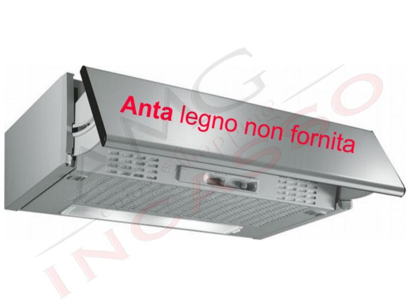 Cappa Frontale Estraibile Turboair Puglia cm.60 Grigio 1 Motore ...