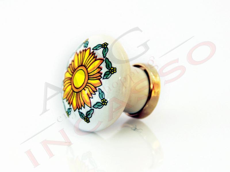 Pomolo Pomello 669-78 Vietri sole porcellana ceramica rotondo base ...