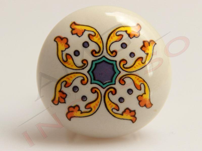 Pomolo Pomello 669-79 Vietri antico porcellana ceramica rotondo base ...
