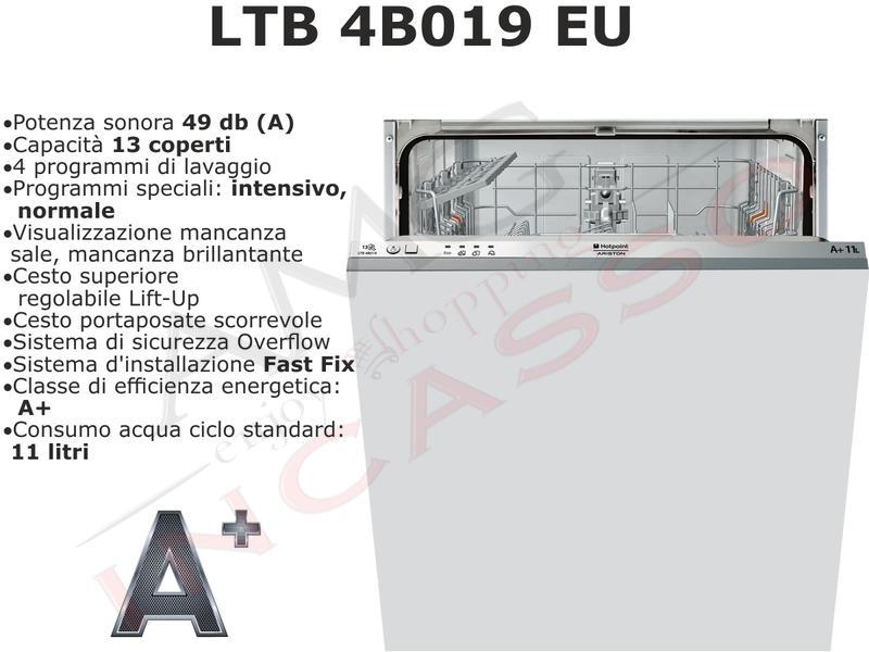 Lavastoviglie da incasso Hot Point Ariston 60CM LTB 4B019 EU A+ ...