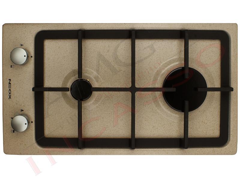 Piano Cottura Cucina Domino 2 Fuochi Gas Cm 30 Avena Griglie In